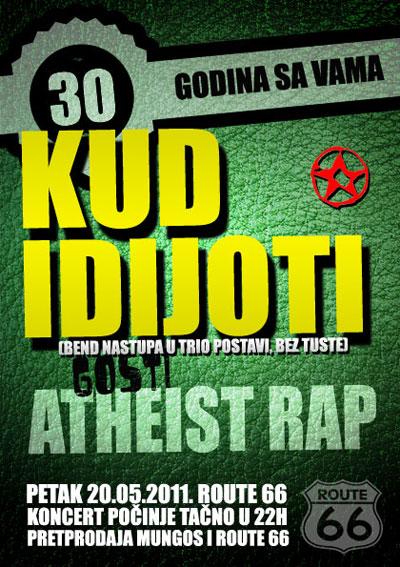 KUD Idijoti & Atheist Rap @ Route 66, Novi Sad