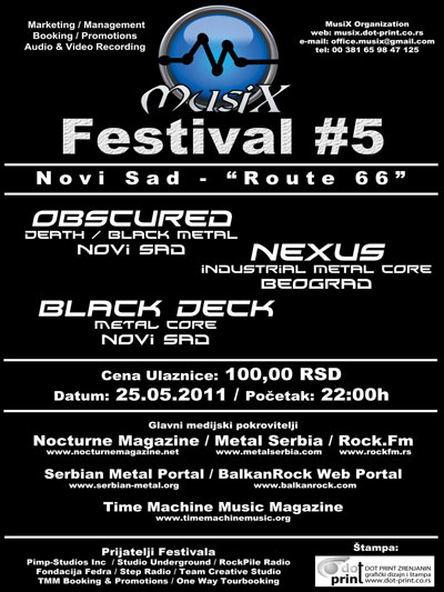 MusiX Festival #5 – Novi Sad – Club Route66