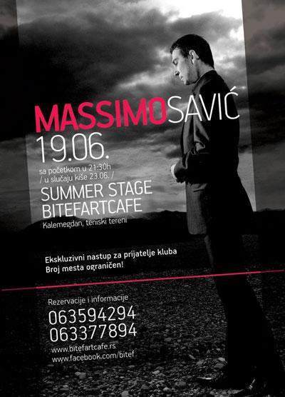 Massimo Savić @ Bitef Art Cafe, Beograd