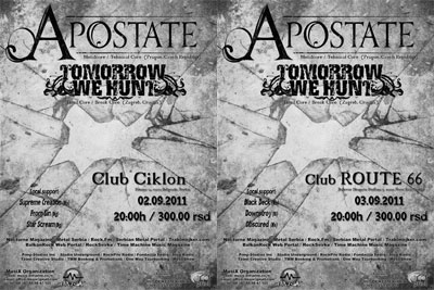 Apostate Summer Tour 2011