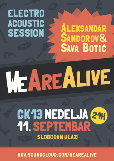 WeAreAlive: Aleksandar Šandorov i Sava Botić @ CK13, Novi Sad