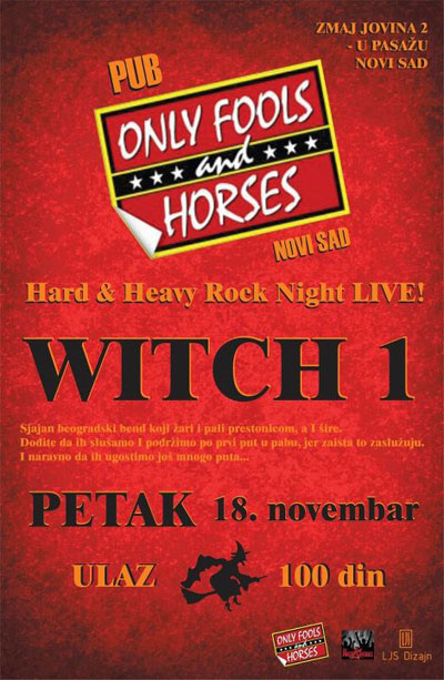 Witch 1 @ Pub Only Fools and Horses, Novi Sad