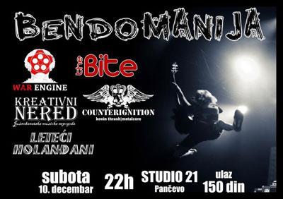 Bendomanija @ Studio 21, Pančevo