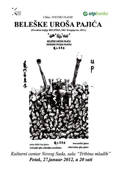 Beleške Uroša Pajića @ Kulturni centar, Novi Sad