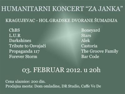 Humanitarni koncert za Janka