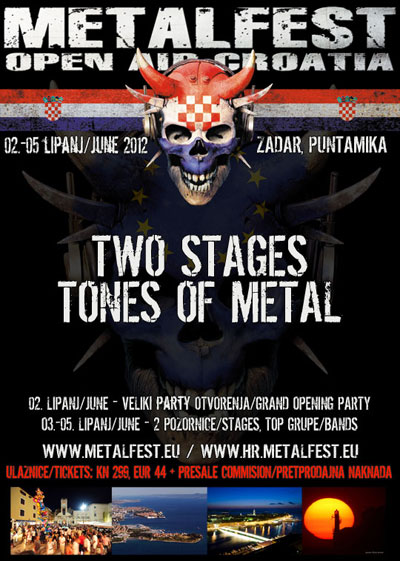 Metal Fest 2012, Hrvatska