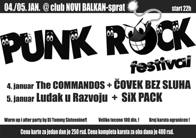 PunkRock Festival @ Club Novi Balkan, Smederevska Palanka
