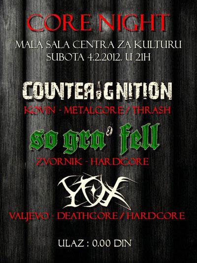 Y.O.X, CounterIgnitioN i So Gra' Fell @ Centar za kulturu, Valjevo