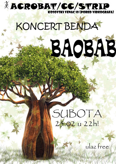 Baobab @ Acrobat Strip, Čačak