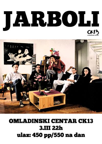Jarboli @ Omladinksi centar CK13, Novi Sad