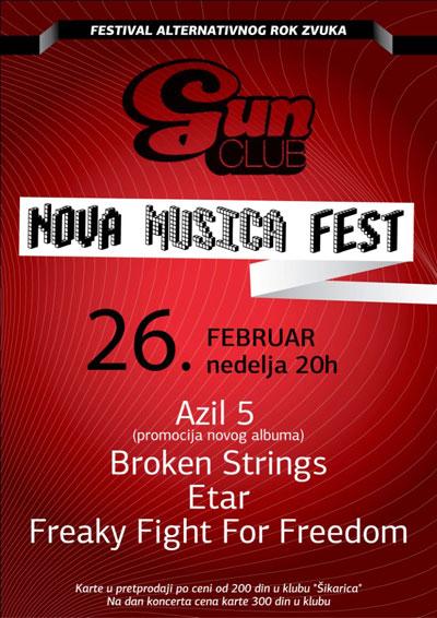 Nova Musica Fest @ Club Gun, Beograd