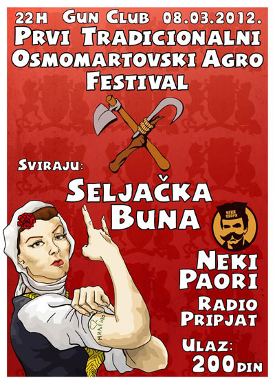 Osmomartovski agro festival @ Gun Club, Beograd