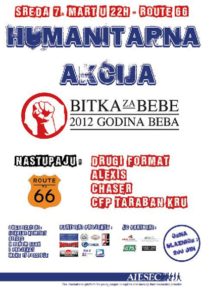Bitka za bebe @ Klub Route 66, Novi Sad