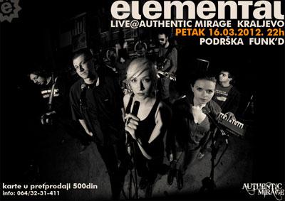Elemental @ Cafe Mirage, Kraljevo