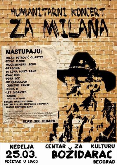 Humanitarni koncert za Milana @ Božidarac, Beograd
