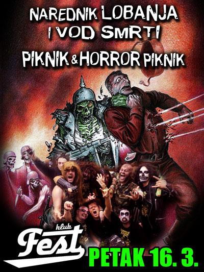 Narednik Lobanja i Vod Smrti, Piknik i Horror Piknik @ Klub Fest, Zemun