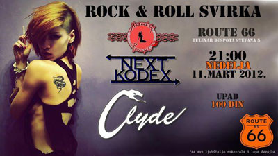 Moulin Rouge, Next Kodex i Clyde @ Route 66, Novi Sad