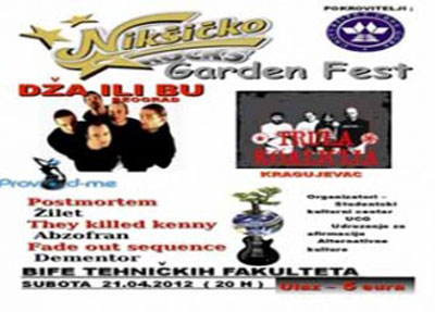 Nikšićko pivo Garden Fest 2012