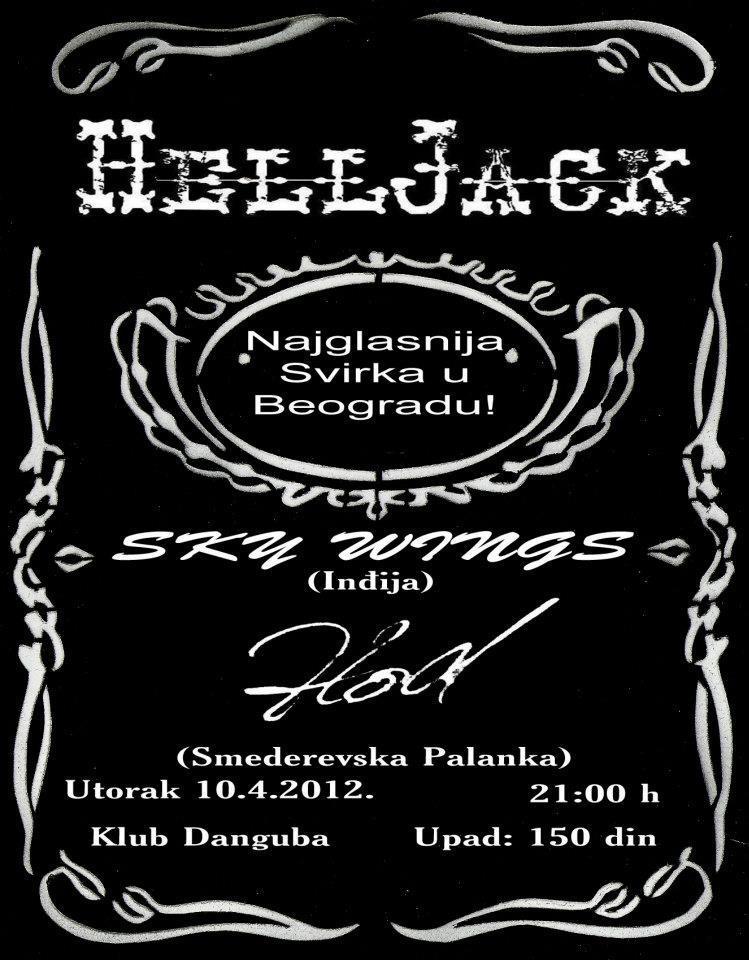 HellJack, Sky Wings i Hod @ Klub Danguba, Beograd