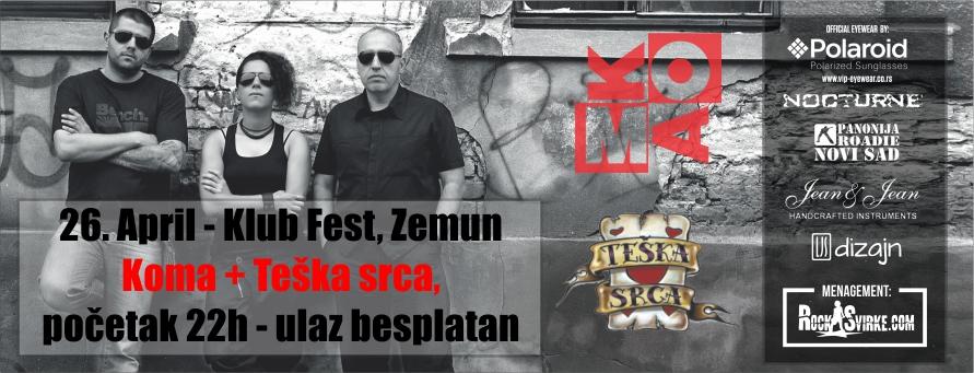 Koma @ Klub Fest, Zemun