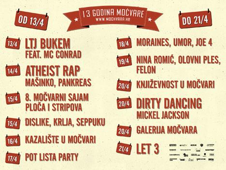 Klub Močvara, Zagreb - 13. rođendan