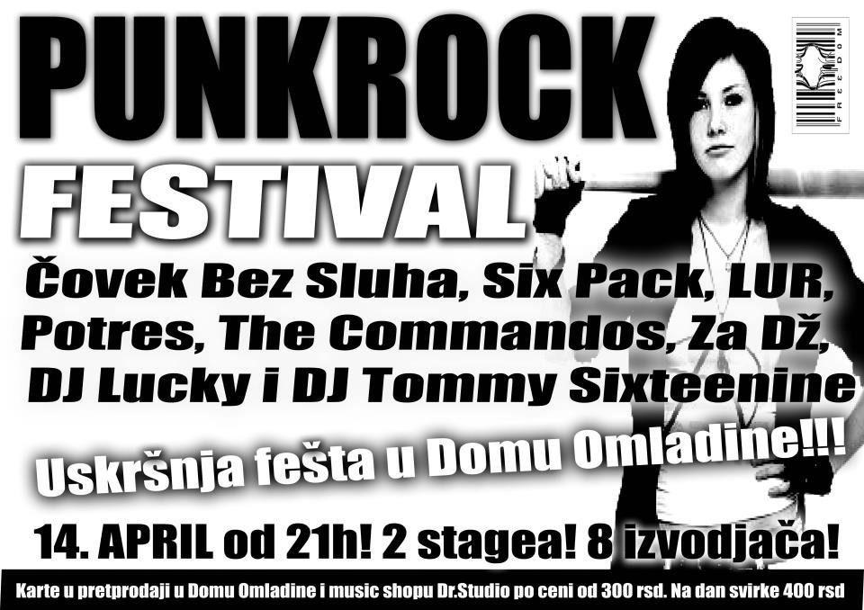 Punk Rock Festival @ Dom omladine, Kragujevac