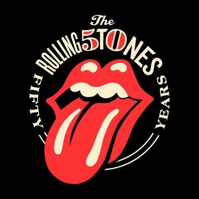 The Rolling Stones - 50 years logo