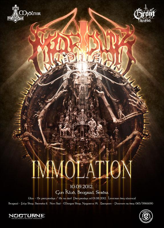 Marduk & Immolation @ Gun Club, Beograd