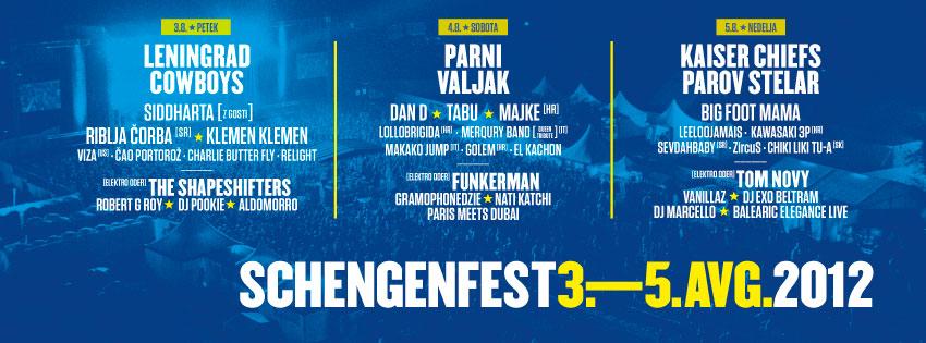 Schengenfest 2012, Slovenija