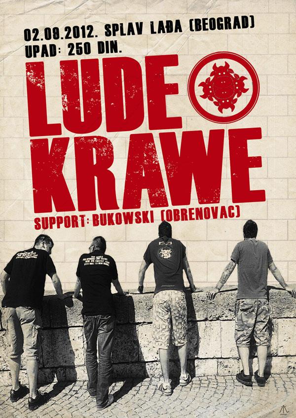 Lude Krawe @ Klub Lađa, Beograd