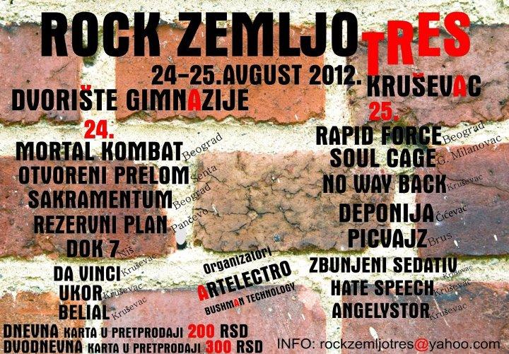Rock Zemljotres 2012 @ Kruševac