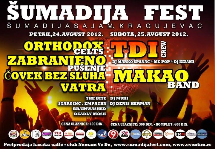 Šumadija Fest 2012 @ Kragujevac