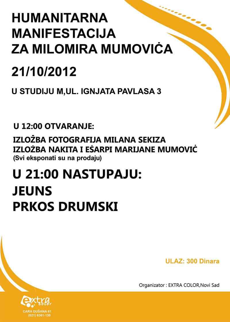 Humanitarna manifestacija za Mumeta
