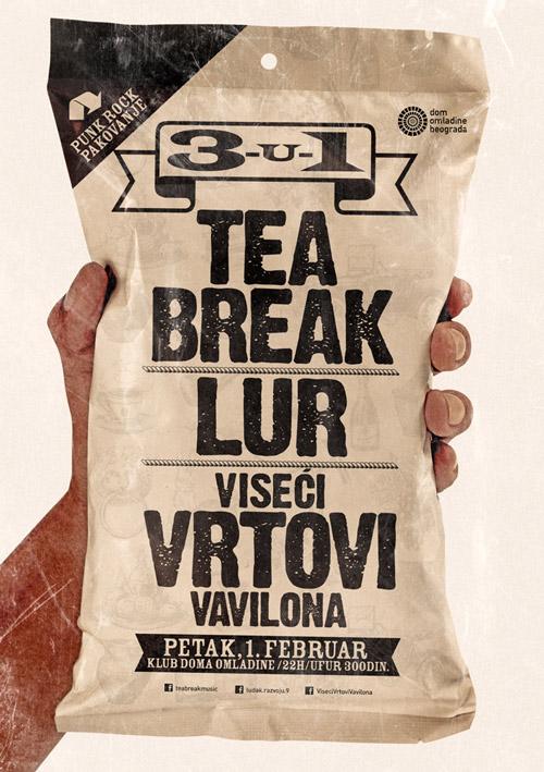 3 u 1 - Tea Break, LUR i Viseći Vrtovi Vavilona @ Dom omladine