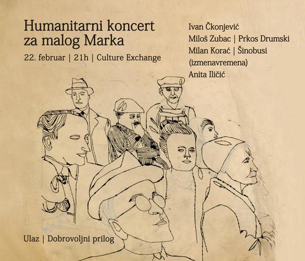 Humanitarni koncert za malog Marka @ Culture Exchange, Novi Sad