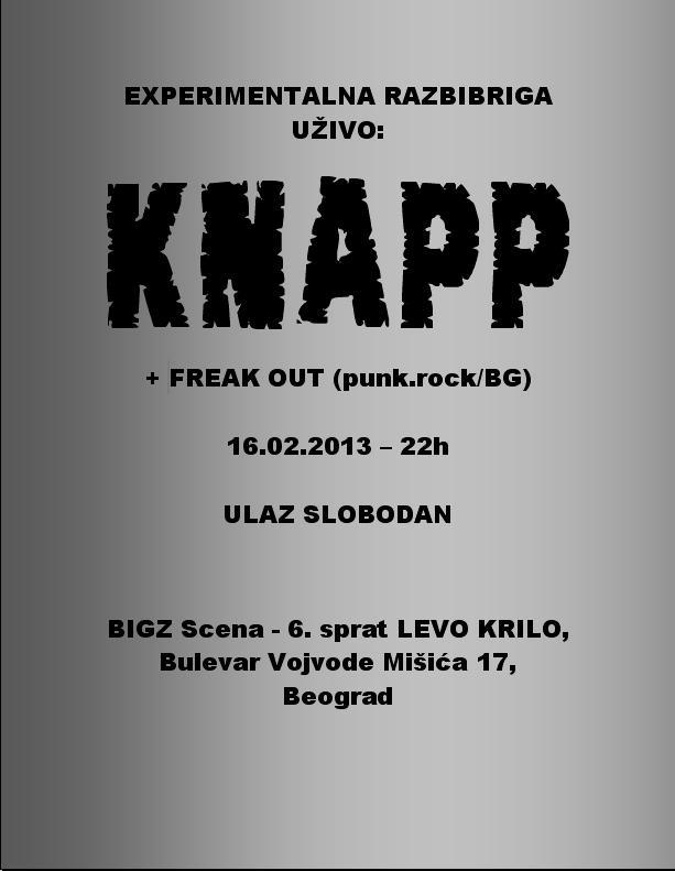 Knapp & Freak Out @ Bigz Scena