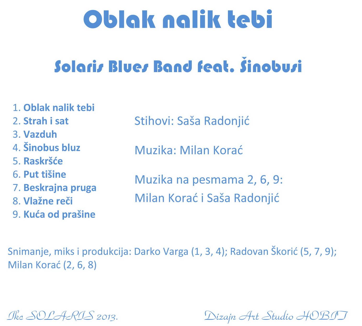 Solaris Blues Band feat. Šinobusi - Oblak nalik tebi (zadnja)
