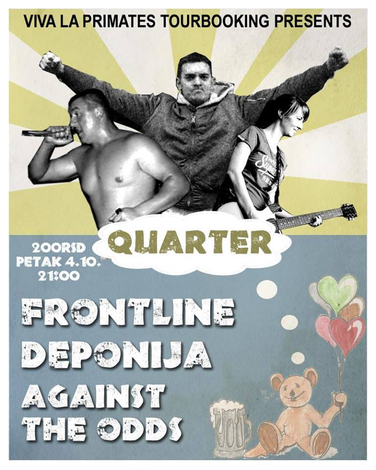 Frontline, Deponija i Against The Odds @ The Quarter, Novi Sad