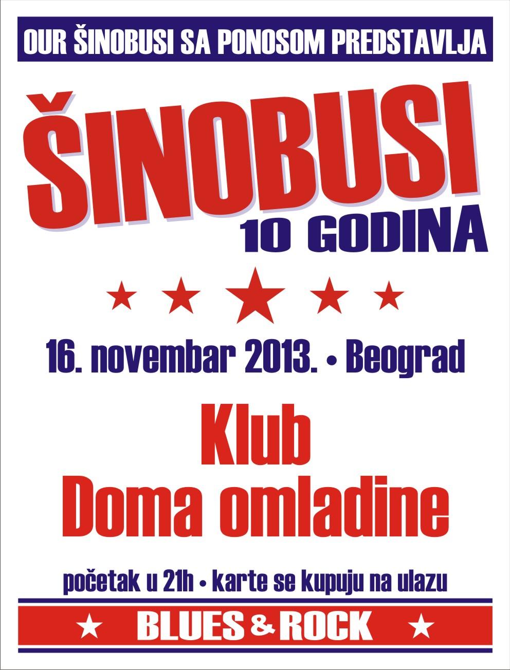 Šinobusi @ Dom omladine, Beograd