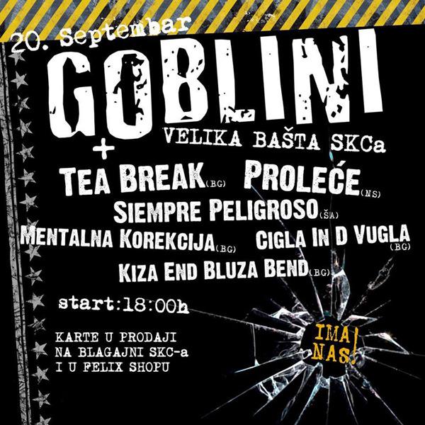 Plakat: Goblini i prijatelji @ SKC, Beograd
