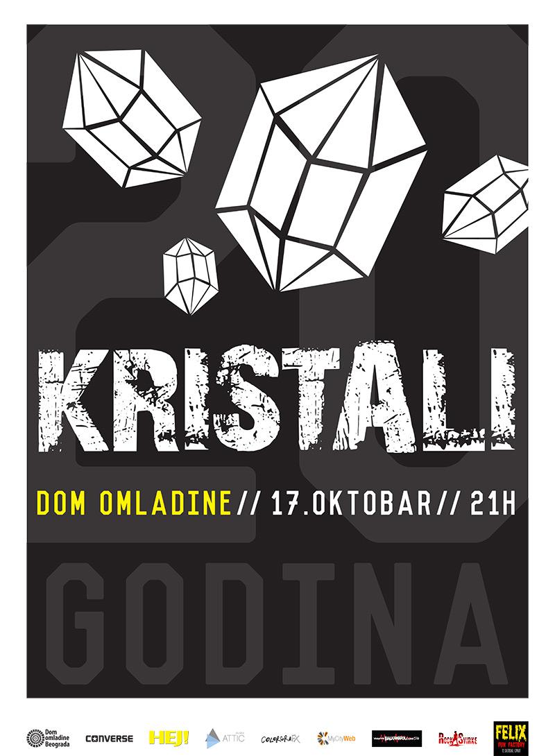 Koncert: Kristali @ Dom omladine, Beograd