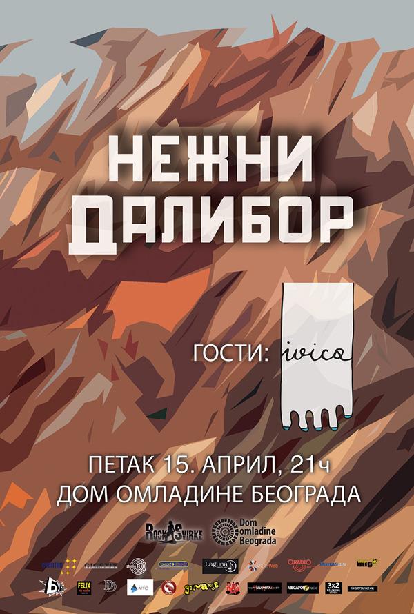 Koncertna promocija novih pesama benda Nežni Dalibor u DOB-u